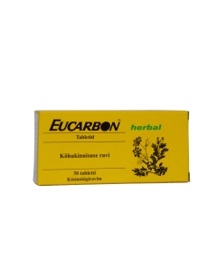 EUCARBON HERBAL TBL 105MG N30