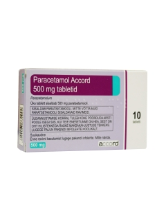 PARACETAMOL ACCORD TBL 500MG N10