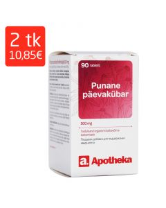 A. PUNANE PÄEVAKÜBAR TBL 500MG N90