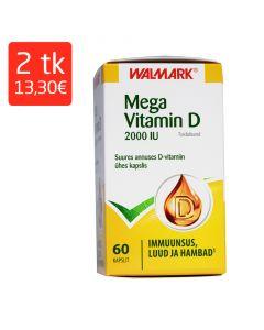MEGA VITAMIIN D 2000IU  KAPSLID 50MCG N60