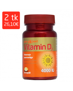 VITAMIN D3 PRO EXPERT 4000IU KAPSLID N90