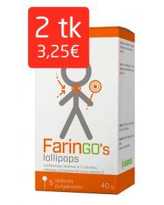 FARINGO'S LOLLIPOPS N5 ASTELPAJU PULGAKOMMID C-VITAMIINIGA