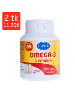 LYSI OMEGA-3 KALAÕLI D-VITAMIINI KAPSLID N120